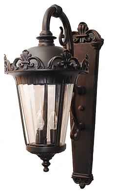 Melissa Parisian Elegance 3-Light Outdoor Wall Lantern; Aged Silver