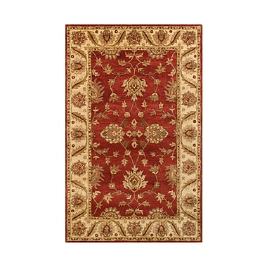 Noble House Golden Red/Gold Area Rug; 5' x 8'