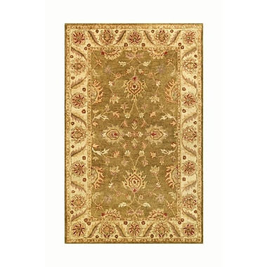 Noble House Golden Green/Gold Area Rug; Runner 2'3'' x 8'