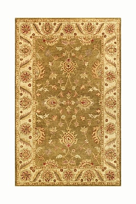 Noble House Golden Green/Gold Area Rug; 5' x 8'