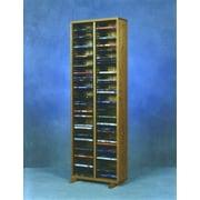 Wood Shed 200 Series 128 DVD Multimedia Storage Rack; Natural