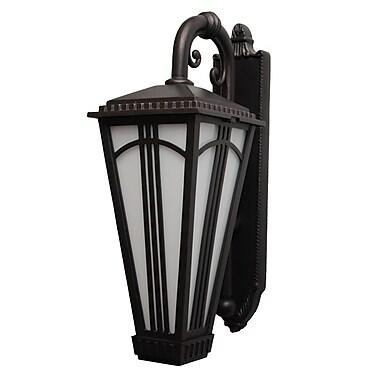 Melissa Parisian Elegance 2-Light Outdoor Wall Lantern; Black