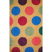 American Home Rug Co. Bright Yellow Dots Area Rug; 8' x 11'