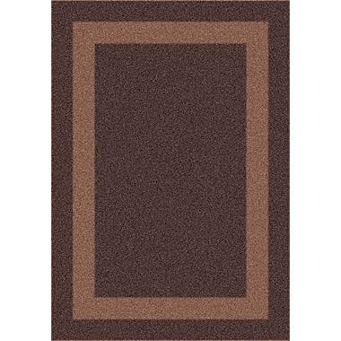 Milliken Modern Times Bailey Dark Brown Area Rug; Square 7'7''