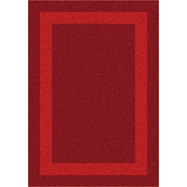 Milliken Modern Times Bailey Tapestry Red Area Rug; Oval 3'10'' x 5'4''