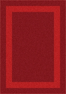 Milliken Modern Times Bailey Tapestry Red Area Rug; Round 7'7''
