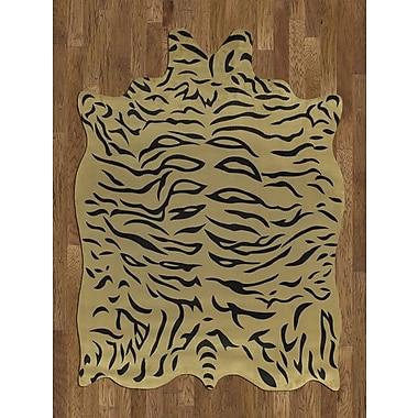 Acura Rugs Animal Hide Yellow/Black Tiger Area Rug; 5' x 7'