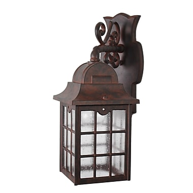 Melissa 600 Series 1-Light Outdoor Wall Lantern; Old Copper