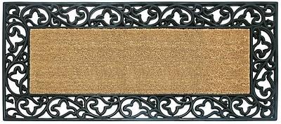 Nedia Home Acanthus Border Doormat; 22'' H x 36'' W x 1'' D