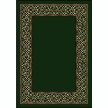Milliken Design Center Olive Copernicus Area Rug; Rectangle 5'4'' x 7'8''