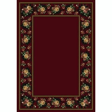 Milliken Design Center Cranberry Floral Lace Area Rug; Runner 2'4'' x 23'2''