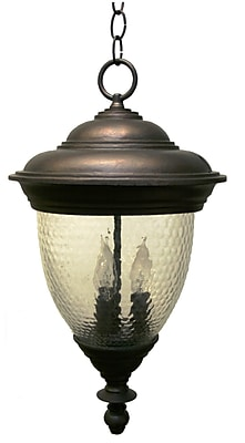 Melissa Tuscany 4-Light Outdoor Hanging Lantern; Old Copper