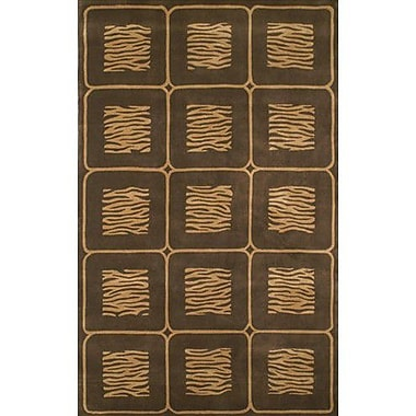 American Home Rug Co. African Safari Beige/Brown Animal Magnetism Area Rug; 5' x 8'