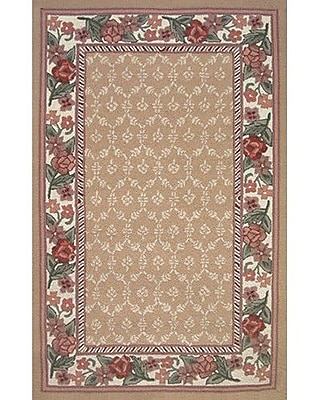 American Home Rug Co. Bucks County Autumn/Ivory Damask Area Rug; Runner 2'6'' x 8'