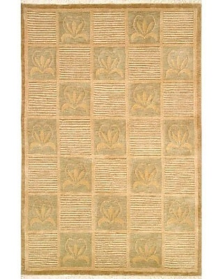 American Home Rug Co. Neo Nepal Floral Stones Beige Area Rug; 3'6'' x 5'6''