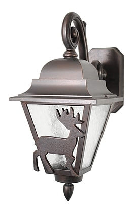 Melissa Americana 1-Light Outdoor Wall Lantern; Old Bronze
