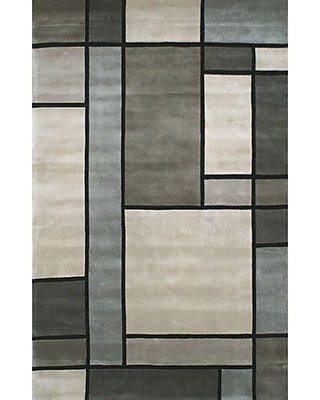 American Home Rug Co. Casual Contemporary Grey / Slate Metro Area Rug; 5' x 8'
