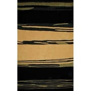 American Home Rug Co. Bright Horizon Yellow/Black Area Rug; Round 8'