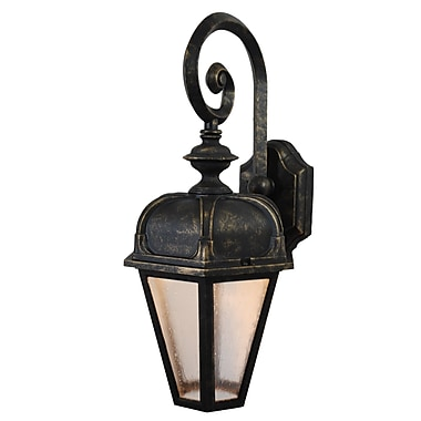 Melissa Kiss Series 1-Light Outdoor Wall Lantern; Architectural Bronze