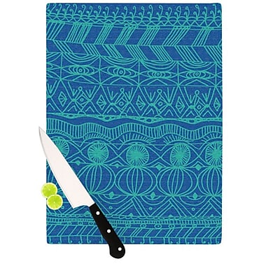 KESS InHouse Beach Blanket Confusion Cutting Board; 11.5'' H x 8.25'' W x 0.25'' D