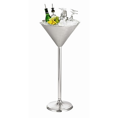 Tablecraft Remington Martini Glass Beverage Stand in Stainless Steel