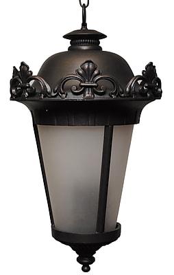 Melissa Parisian Elegance 4-Light Outdoor Hanging Lantern; Rusty Nail