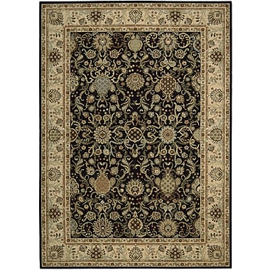 Kathy Ireland Home Gallery Lumiere Stateroom Onyx Area Rug; 7'9'' x 10'10''