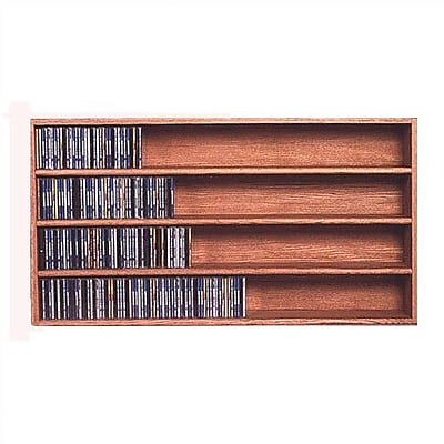 Wood Shed 400 Series 472 CD Wall Mounted Multimedia Storage Rack; Clear