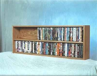 Wood Shed 200 Series 176 DVD Multimedia Tabletop Storage Rack; Clear