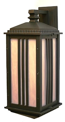 Melissa Parisian Elegance 1-Light Outdoor Wall Lantern; Architectural Bronze