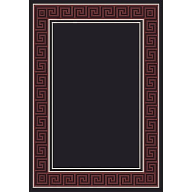 Dynamic Rugs Piazza Black/Red Area Rug; Rectangle 7'10'' x 11'2''