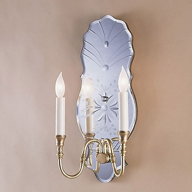 JVI Designs 2-Light Venetian Mirror Wall Sconce; Polished Nickel