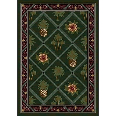 Milliken Signature Palm and Pineapple Area Rug; Square 7'7''