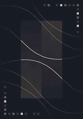 Milliken Pastiche Caliente Ebony Black Area Rug; Rectangle 5'4'' x 7'8''