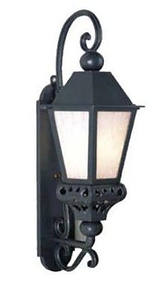 Melissa Tuscany 1-Light Outdoor Wall Lantern; White