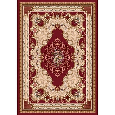 Milliken Pastiche Kashmiran Valette Dark Red Area Rug; Oval 3'10'' x 5'4''