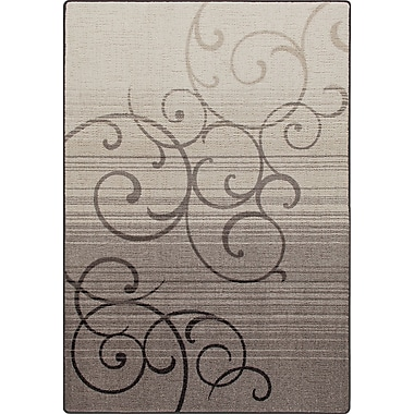 Milliken Mix and Mingle Pewter Whispering Wind Rug; Runner 2'1'' x 7'8''