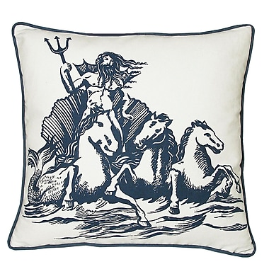 Kevin O'Brien Studio Nauticals Poseidon Throw Pillow; Indigo