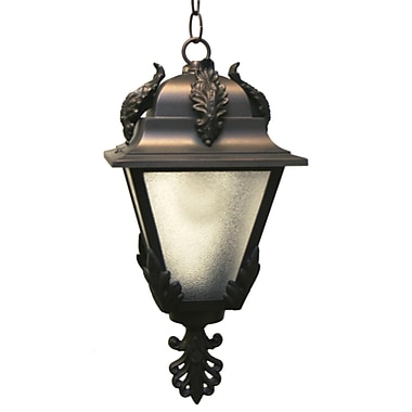Melissa Parisian Elegance 1-Light Outdoor Hanging Lantern; Patina Bronze