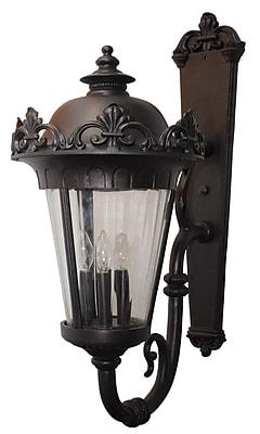 Melissa Parisian Elegance 4-Light Outdoor Sconce; Old Bronze