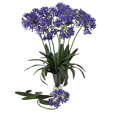 Nearly Natural 29'' African Lily Floral Arrangements in Purple (Set of 12)