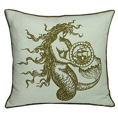 Kevin O'Brien Studio Nauticals Mermaid Throw Pillow; Seaglass