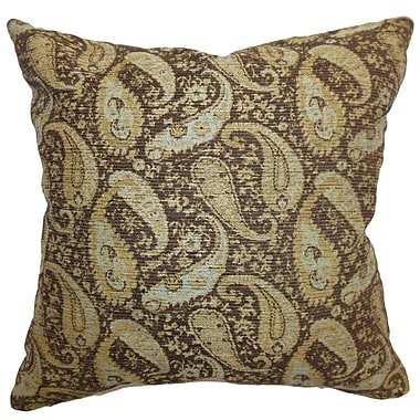 The Pillow Collection Aeldra Paisley Throw Pillow; 18'' x 18''