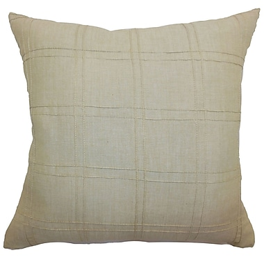 The Pillow Collection Yachne Ribbed Cotton Throw Pillow; 20'' x 20''
