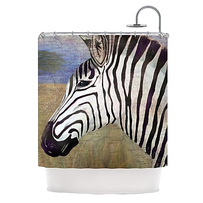 KESS InHouse Zebransky Shower Curtain