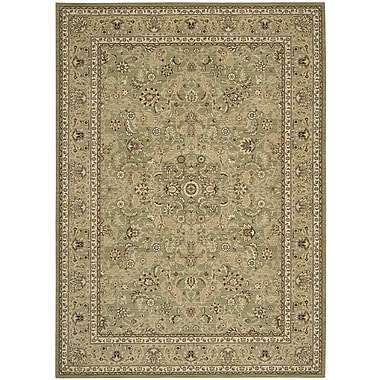 Kathy Ireland Home Gallery Lumiere Royal Countryside Sage Area Rug; 5'3'' x 7'5''