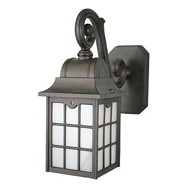 Melissa 600 Series 1-Light Outdoor Wall Lantern; Black