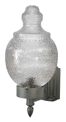 Melissa 9200 Series 1-Light Outdoor Sconce; Aged Silver