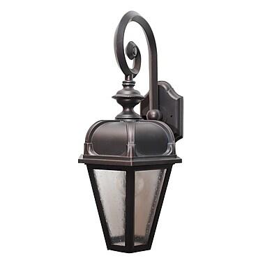 Melissa Kiss Series 1-Light Outdoor Wall Lantern; Architectural Bronze