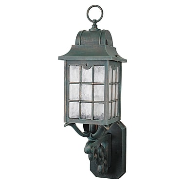 Melissa 600 Series 1-Light Outdoor Sconce; Black